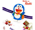 Aapno Rajasthan Lovable Doremon Purple Band Kids Rakhi, only rakhi