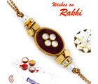 Aapno Rajasthan Crystal Beads Studded Beautiful Rakhi, only rakhi