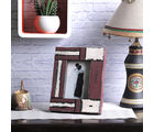 Aapno Rajasthan White and Red Matte contour Wooden Picture Frame for Mother's Day