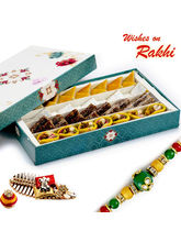 Aapno Rajasthan Premium Assorted Kaju & Khajoor Sweets With Free 1 Rakhi