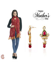 Aapno Rajasthan Combo Of Party Waer Earrings And Dupatta For Mother's Day