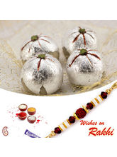 Aapno Rajasthan Kaju Laddu Sweet With Free 1 Bhaiya Rakhi, only rakhi with 1000 gms sweet