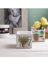 Tayhaa Set of 2 Beautifully Painted 7 CM Planter Pots (CH1611), multicolor