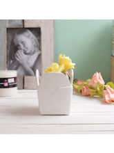 Tayhaa Beautiful Letter Style 11 CM Planter Pot (CH1622), white