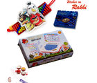 Aapno Rajasthan Kids Angry Bird Game And Rakhi Hampers, hamper with 110 gm cadbury celebrations box