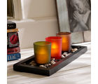 Aapno Rajasthan Multicolor Solid Tealight Holders With Decorative Tray (TLT1508)