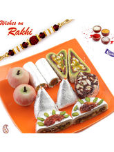 Aapno Rajasthan Kaju Mix Sweet With Free 1 Bhaiya Rakhi, only rakhi with 1000 gms sweet