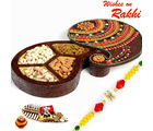 Aapno Rajasthan Paisley Design Dryfruit Box With Rakhi
