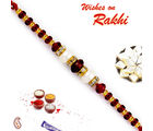 Aapno Rajasthan Aapno Rajasthan Brown & Golden Beads Embellished Stylish Rakhi, only rakhi