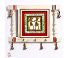 Aapno Rajasthan Dhokra Art Key Holder With Aritificial Bell Motif (WUD15917)