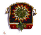 Aapno Rajasthan Beautiful Wooden Panel Key Holder With Sun Motif (WUD15920)