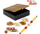 Aapno Rajasthan Square Designer Box With Rakhi & Dryfruits