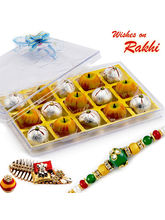 Aapno Rajasthan Premium Kaju Apple & Kaju Laddoo Sweets With Free 1 Rakhi