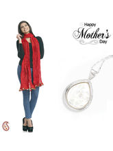 Aapno Rajasthan Combo Of Pearl Pendant And Poly Silk Dupatta For Mother' Day