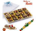 Aapno Rajasthan Premium Dryfruit Barfi Sweet With Free 1 Rakhi