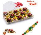 Aapno Rajasthan Premium Chocolate Barfi & Kaju Sweets With Free 1 Rakhi