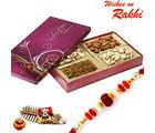 Aapno Rajasthan Big Dry Fruit Box And Rakhi Hampers