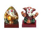Aapno Rajasthan Hand Painted Enamelled Metal Ganeshji Set (CMC1227)