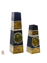 Aapno Rajasthan Dark Shade Elegant Flower Vases (WUD15928)
