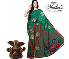 Aapno Rajasthan Green handwork Georgette Saree for Mother's Day