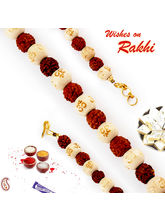 Aapno Rajasthan Om Beads & Rudraksh Bracelet Rakhi...