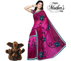 Aapno Rajasthan Burgundy Red Embroidery Saree for Mother's Day