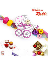 Aapno Rajasthan Sweet Toddler Multicolor Beads Kids Rakhi, only rakhi