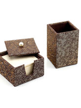Aapno Rajasthan Beautiful Handmade Paper Coaster Set And Pen Stand (HPEF0928)