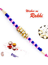 Aapno Rajasthan Pink & Blue Beads & Ad Studded Sty...