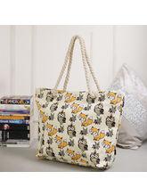 Tamirha Wonderful White Contemporary Print Handbag...