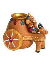 Aapno Rajasthan Aapno Rajasthan Multicolor Terracotta Cow And Ganesh Vase (TC15510)