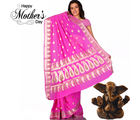 Aapno Rajasthan An Uncommon Pink Chiffon Saree With Paisley Designs for Mother's Day