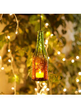 Aapno Rajasthan Charming And Elegant 2 Bottle Style Hanging Tealight Holders (TLT1525)