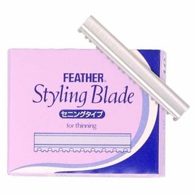 Feather Styling Razors Replacement Blades for THINNING - 10 BLADES - Made in Japan