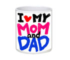 Net Data Express Super Mom And Dad Ceramic Mug (INFBEAMOADWTRD1 43), multicolor
