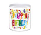 Net Data Express Happy Birthday Ceramic Mug (INFBEABTDWTRD1 20), multicolor