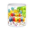 Net Data Express Happy Birthday Ceramic Mug (INFBEABTDWTRD1 93), multicolor