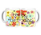 Net Data Express Happy Birthday Ceramic Mug (INFBEABTDWTRD1 62), multicolor