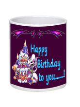 Net Data Express Happy Birthday Ceramic Mug (INFBEABTDWTRD1 118), multicolor