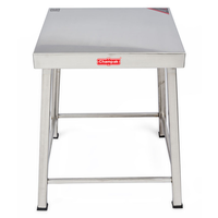 Champak Stool Stainless Steel Table 15 Inch