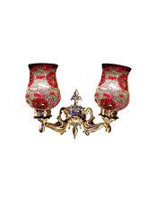 Wel Decor Handicraft Kottage Aluminum Lamp Shade (HK-WL5032), red