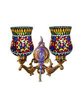 Wel Decor Handicraft Kottage Wall Hanging Lamp without Bulb (HK-WL5011), multicolor