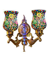 Wel Decor Handicraft Kottage Wall Hanging Lamp without Bulb (HK-WL5004), multicolor