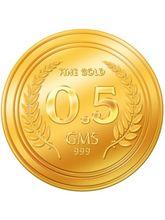 Euphoria by A. Himanshu 0.5 Gram 24kt Gold Coin (AHJ-0.5-24kt), 995 purity