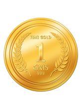 Euphoria by A. Himanshu 1 Gram 24kt Gold Coin (AHJ-1-24kt), 995 purity