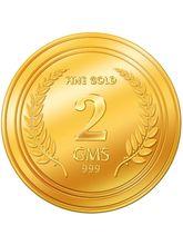 Euphoria by A. Himanshu 2 Gram 24kt Gold Coin (AHJ-2-24kt), 995 purity