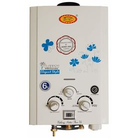 Surya Digital Instant Gas Geyser with Heavy Copper Tank in 6 litres Instant/min with Temperature Display