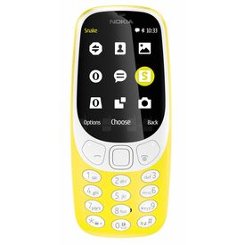 Nokia 3310 Dual 16MB 2.4  2MP LED Flash Feature mobile in Yellow colour