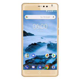 OKWU PI Plus 4G VoLte 3GB RAM Model with 5.0-inch 1080p display, (Reliance Jio 4G Sim Support) 16 GB Internal Memory and 13 Mpix /8+ 5 Mpix dual Camera HD Smartphone in Gold Colour