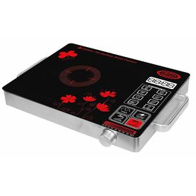 Surya Infrared Ray Induction Cooktop Model DZ18-IN-PS19 in Crystalline Glass Plate